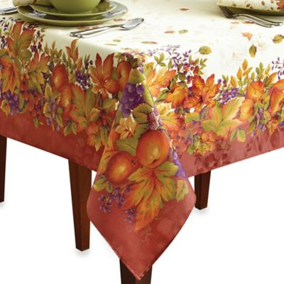 Harvest Jubilee Spice 60 Inch X 84 Inch Tablecloth
