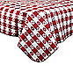 Checkered 52-Inch x 70-Inch PEVA Tablecloth in Red