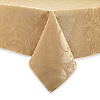 Autumn Scroll Damask 60-Inch x 84-Inch Tablecloth in Gold