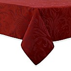 Autumn Scroll Damask 60-Inch x 120-Inch Tablecloth in Wine