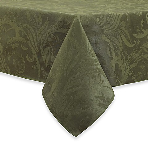 Buy autumn scroll damask 60 inch x 120 inch tablecloth in for Tablecloth 52 x 120