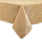 Autumn Scroll Damask 60-Inch x 144-Inch Tablecloth in Gold