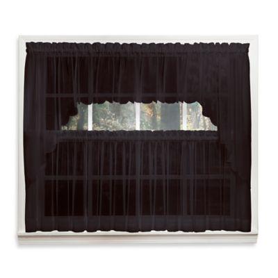 Buy Black Window Valances from Bed Bath & Beyond