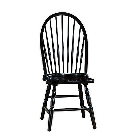 Carolina Chair & Table Company Antique Windsor Chair in Black