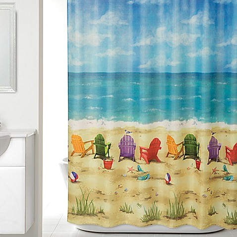 buy beach scene shower curtain from bed bath beyond