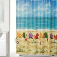 Beach Scene Shower Curtain