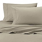 Ultimate Percale Cotton Twin Sheet Set in Taupe