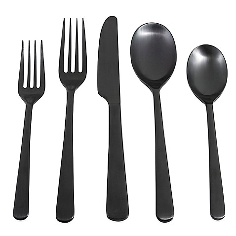 Cambridge 174 Silversmiths Julie Black Satin Flatware Set
