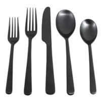 Cambridge® Silversmiths Julie Black Satin 5-Piece Flatware Set