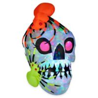 Inflatable Outdoor Light Show Skull with Spiders