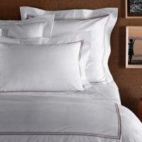 Frette At Home Piave King Pillowcase in White/Stone