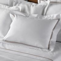 Frette At Home Piave King Sheet Set in White/Stone