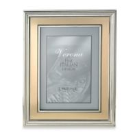Lawrence Frames 8-Inch x 10-Inch Silver-Plated Picture Frame with Brushed Gold Inner Panel