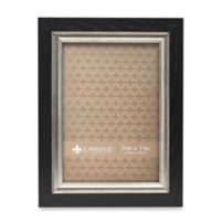 Lawrence Frames 5-Inch x 7-Inch Burnished Silver Inner Picture Frame in Black