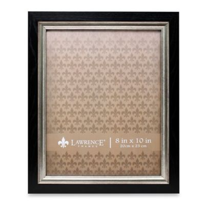 lawrence frames 8 inch x 10 inch burnished silver inner picture frame in black