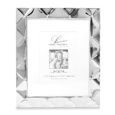 lawrence frames 8 inch x 10 inch silver pillow picture frame