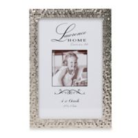 Lawrence Frames Silver Shimmer 4-Inch x 6-Inch Metal Picture Frame