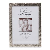 Lawrence Frames Silver Shimmer 5-Inch x 7-Inch Metal Picture Frame