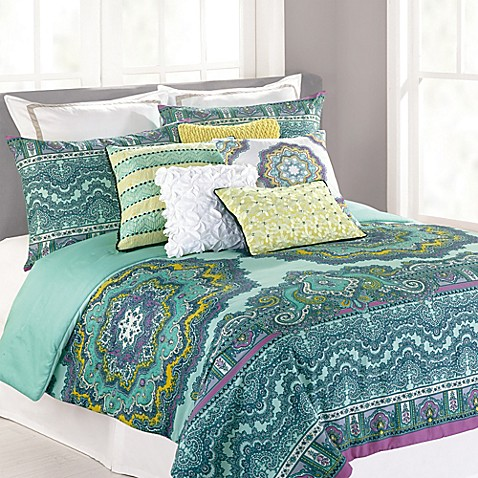 nanette lepore villa paisley medallion comforter set