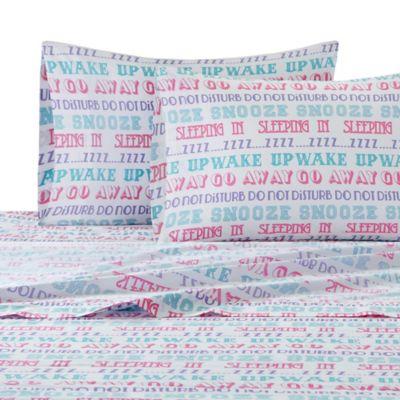 julissa writing twin xl sheet set - Twin Xl Sheets