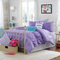 Julissa Twin/Twin X 2-Piece Comforter Set in Purple