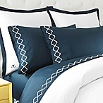 Jill Rosenwald Hampton Links Embroidered Queen Sheet Set in Navy