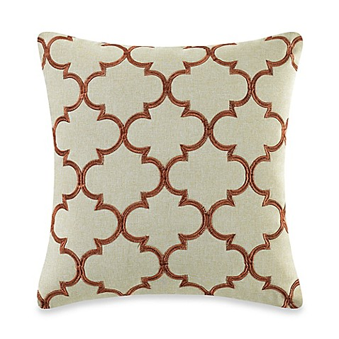 Myop Throw Pillow Covers : MYOP Club Embroidery Square Throw Pillow Cover in Rust - Bed Bath & Beyond