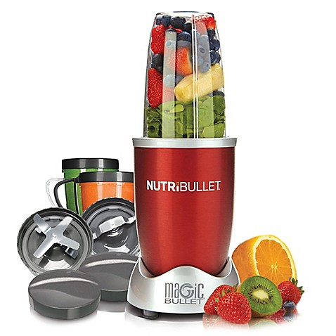 Food prep magic bullet nutribullet in red from buy buy for Magic bullet motor size