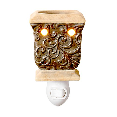 Rococco Ceramic Plug In Night Light Wax Warmer Bed Bath