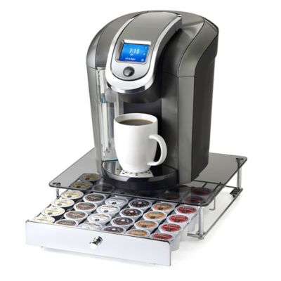 Nifty Keurig K Cup 36 Capacity Gl Top Rolling Drawer