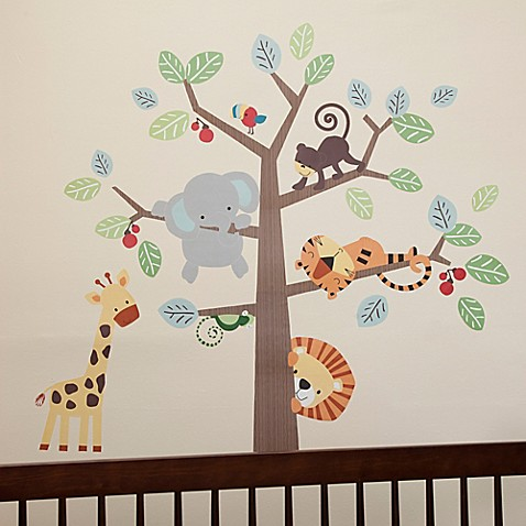 Lambs & Ivy® Treetop Buddies Wall Decals (Set of 4) - Bed Bath ...