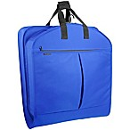 WallyBags® 52-Inch Dress Length Garment Bag with Pockets in Royal Blue