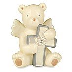 Grasslands Road® Bear Angel with April Clear Glass Birthstone Cross