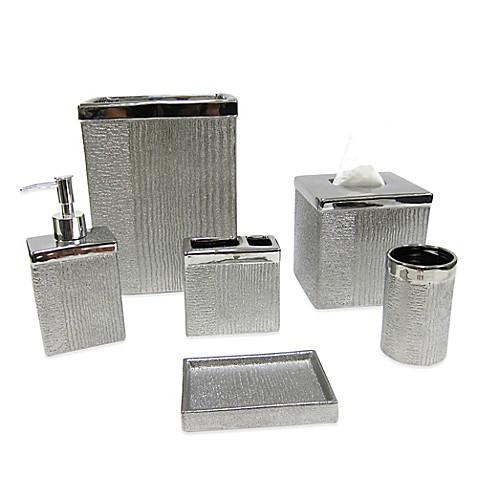 Croscill roebling stripe bath ensemble bed bath beyond for Bathroom accessories showroom