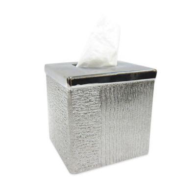 Croscill Roebling Stripe Boutique Tissue Box Cover