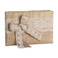 Ivy Lane Design Country Romance Guest Book in Ivory