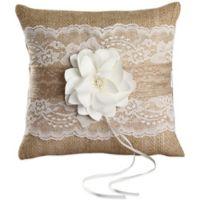 Ivy Lane Design™ Rustic Garden Ring Pillow in Ivory