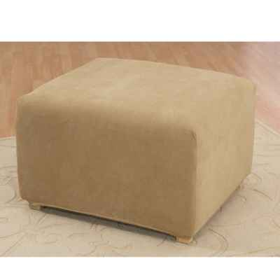 Sure Fit® Stretch Pique Ottoman Cover in Antique