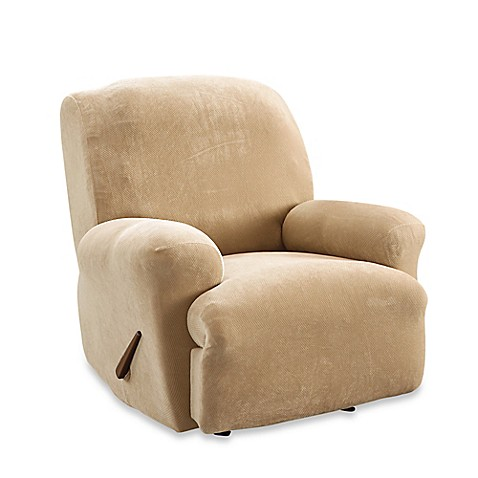 Sure Fit® Stretch Sterling Recliner Slipcover in Cream