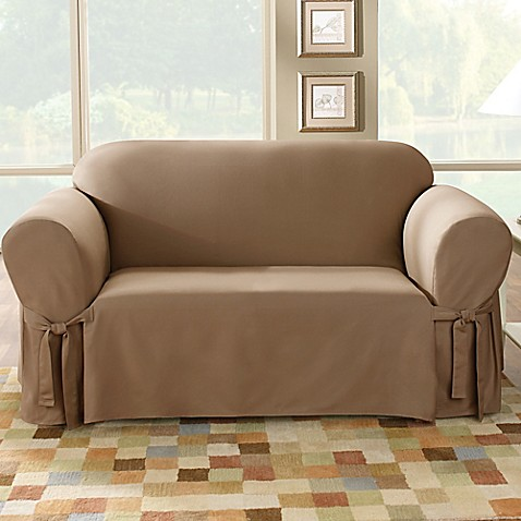 Buy Sure Fit Duck Supreme Cotton Loveseat Slipcover From Bed Bath Beyond