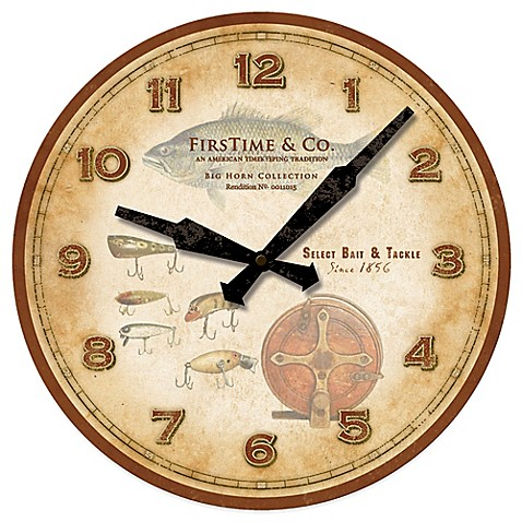 Firstime 174 Fishing Lures Wall Clock Bed Bath Amp Beyond