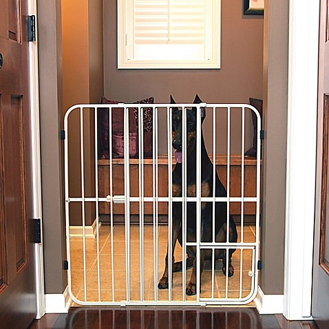 Carlson Big Tuffy Expandable Pet Gate In White Bed Bath