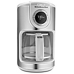 KitchenAid® 12-Cup Glass Carafe Coffee Maker in White