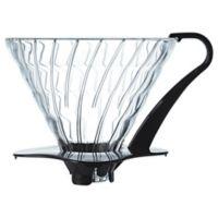 Hario V60 Glass Coffee Dripper in Black