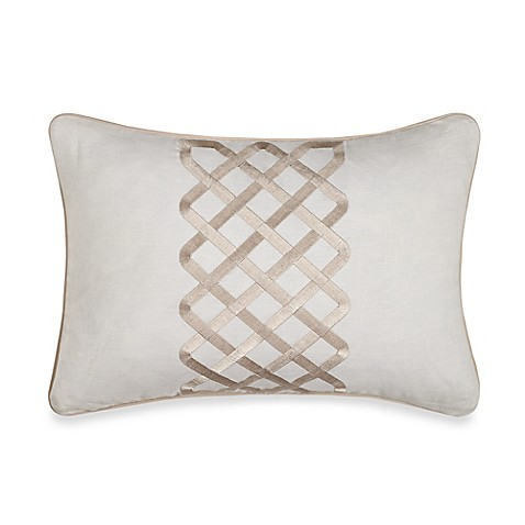 Luxury Decorative Pillow Collection : Wamsutta Collection Luxury Italian-Made Salerno Oblong Throw Pillow in Ivory - Bed Bath & Beyond