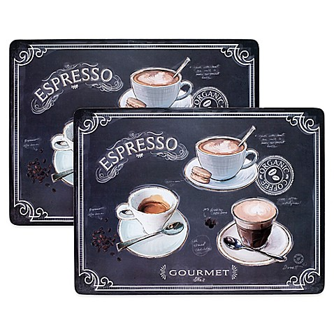 Avanti Coffee House Cork Backed 2 Piece Placemat Set Bed