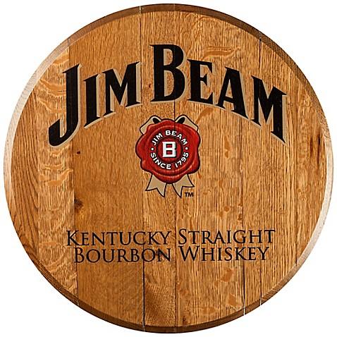 Jim Beam® Bourbon Barrel Head Wall Décor - Bed Bath & Beyond