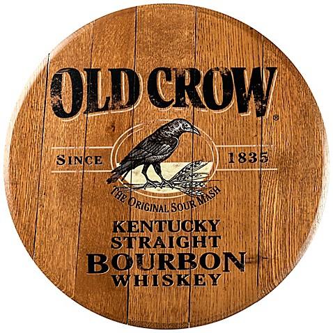 Old Crow Bourbon Barrel Head Wall Décor - Bed Bath & Beyond