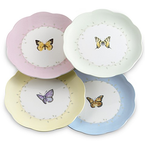 Lenox 174 Butterfly Meadow 174 8 Inch Dessert Plates Set Of 4