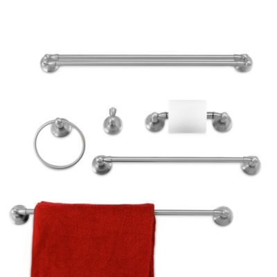 double towel bar brushed nickel 18 inch. inspirations™ sage™ collection brushed nickel 18-inch towel bar double 18 inch 2